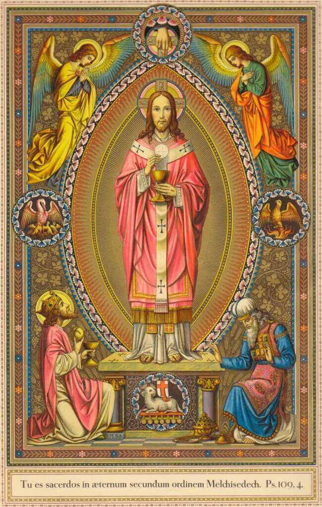 Jesus Christ the High Priest. Prayer card printed circa 1910 © Private Collection, London