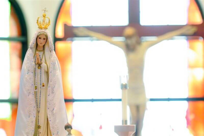 Our Lady of Fatima Statue. Photo Credit: Knights of Columbus
