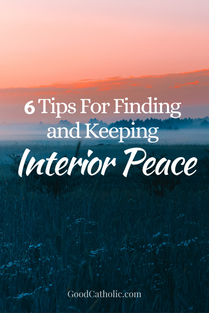 Six tips for keeping your heart at peace.