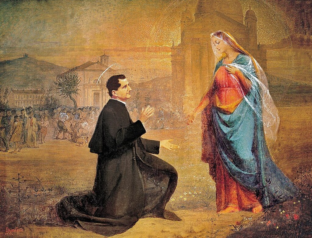St. John Bosco and Our Lady
