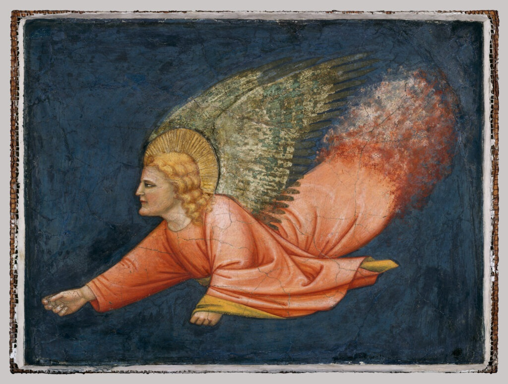 Angel depicted in flight
