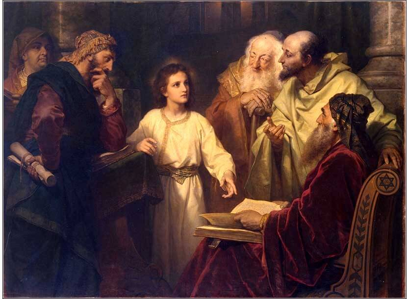 Jesus in the Temple by Heinrich Hofmann