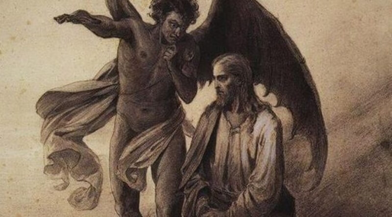 The Devil Tempts Jesus in the Desert